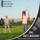 Badminton Net Adjustable Height Volleyball Tennis Net with Stand 10ft 14ft 17ft