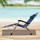 Reclining-Folding-Chair-Beach-Patio-Chaise-Lounge-Chair-Outdoor-Lawn-Lounger-New