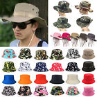 Women Men Boonie Bucket Hat Fishing Hunting Summer Camouflage Floral Sun Caps