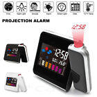 Projection Alarm Clock Weather Station Thermometer Temperature Humidity Monitor