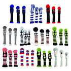 3pcs Golf Knitted Club Head Covers Driver, Fairway Headcover