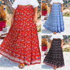 Women Casual Holiday Floral Print Long Maxi Skirt Overszed Baggy Swing Dress NEW