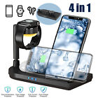 15W Wireless Fast Charging Station Charger Stand for Apple Watch iPhone Samsung