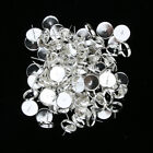 100 Ear Studs for 8-16mm Cabochons Silver Earring Blanks Themselves
