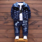 Kids Baby Clothes Outfit Boy Outfits Boys Infant Toddler Coat  T-shirt  Jeans