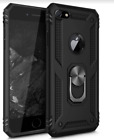 iPhone 7/8 Plus Case Ring Holder Case Dual Layer Protective Cover Black TPU PC