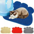 Quality Gray Cat Litter Trap Mat Non-Slip Backing Dirt Paws Soft Catcher on O8F7