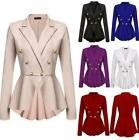 Hot Women Double Breasted Office OL Coat Suit Blazer Jacket Outwear Formal Dress