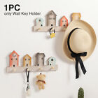 For Entryway Kitchen Wall Mounted Hat Hanger Decor Key Hook Wooden Holder