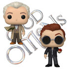 Official Good Omens Aziraphale with Book & Crowley Apple Funko Pop Vinyl Figures
