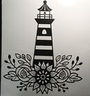 Sunflower Roses Wild Flowers Lighthouse Home Wall Decor Decal Sticker Removable