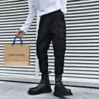 New Fashion Men Boot Cut Slim Fit Cotton Loose Embroidery Mid Rise Cargo Pants