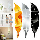 Diy Removable Feather Mirror Decor Wall Stickers Art Vinyl Decal Room Home Stick