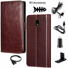 For Samsung Galaxy J3 2017 2018 Leather Wallet Card Flip Case Cover +Accessories
