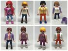 Playmobil Custom Woman Teenager Fur Cape New Style Hair Rock Star Boots Family