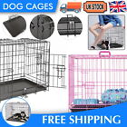 30 INCH DOG CAGE PUPPY TRAINING CRATE PET CARRIER PINK BLUE PET CRATE WITH TRAY
