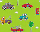 COTTON CLOTHES BEDDING CURTAIN BABY CHILD FABRIC CUTE COMBINATE CARS CHECK 44'W