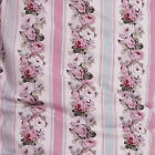 COTTON CURTAIN UPHOLSTERY FABRIC FLORAL STRIPE PLAIDS