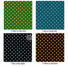 COTTON FABRIC 4MM POLKA DOT BLACK RED PINK GREEN BLUE