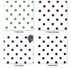COTTON FABRIC 8MM POLKA DOT BLACK RED PINK GREEN VIOLET