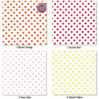 "SOFT COTTON 100% CLOTHES DRESS FABRIC 3MM MULTI-COLORED POLKA DOT ON WHITE 58""W"
