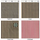 POLY/COTTON CLOTH DRESS FABRIC 3MM STRIPE 31 VARIATIONS