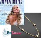 hollywood movie Meryl Mamma Mia 3 Star Necklace 925 STERLING SILVER