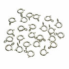 925 Sterling Silver Spring Ring 5mm Clasp clasps OPEN