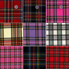 "ACRYLIC DRESS CLOTH UNIFORM FABRIC ANTIQUE SCOT TARTAN CHECK PLAID BLUE 44""WIDE"