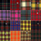 ACRYLIC DRESS CLOTH SCHOOL UNIFORM NECKTIE FABRIC RETRO SCOT TARTAN CHECK PLAID