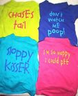 Dog Cat Puppy Clothes Apparel Cotton Shirt Vest FUNNY PHRASES For SMALL Pet XS-M