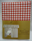 red check kitchen curtains