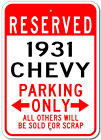 1931 31 CHEVY  Parking Sign
