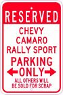 CHEVY CAMARO RALLY SPORT Parking Sign