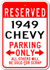 1949 49 CHEVY  Parking Sign