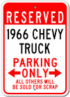 1966 66 CHEVY TRUCK Parking Sign