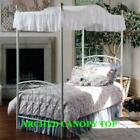 "FULL Size  Bed  ARCHED Canopy top - EYELET   59"" wide x 89"" long   ❤️❤️❤️❤️❤️ image"