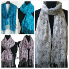Lovely Soft Cotton&Linen Rose Print Wrap SCARF sc742