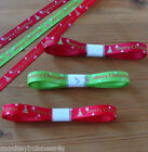 2m - Grosgrain Ribbon - Christmas - 9mm - Gifts - Sewing - Ribbon Crafts - Cards