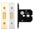 Flat Bathroom Deadbolt Lock Body Toilet Door Turn Release Dead Bolt Eurospec
