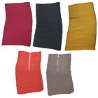 NEW WOMENS BODYCON RIBBED PANEL MINI SKIRT LADIES PARTY WEAR STRETCH SIZE 8 10
