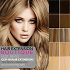 "20"" Clip In Remy Human Hair Extensions 8 Piece Full Head - All Colours"