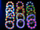 Rubber UV Neon Koosh Bead Bracelet CLUB RAVE CYBER PARTY *Choose Colour & Design