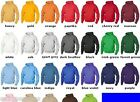 GILDAN Mens Size 2XL-5XL ZIP Heavy Blend Hooded Sweatshirt Hoodie Jumper 18600