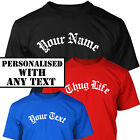 PERSONALISED - GOTHIC HIP HOP RAP STYLE T-Shirt - S - XXXL Tupac Gangster Style