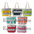 WEATHERPROOF NEW Pro Weave Striped Beach Comber Lined Tote Bag Swim Picnic 3394