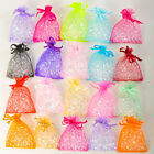50 LARGE 20cm x 12cm QUALITY ORGANZA BAGS IN 15 COLOURS Wedding Favour Bag Gift