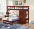 Modular Loft Bed with Chest--Cappuccino