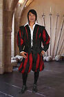 Swiss Guard Doublet Coat Handmade from Faux Suede with Removable Sleeves