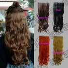 Long Wavy 5 Clips On Hair Piece Extension All Color/Length Free Shipping 25